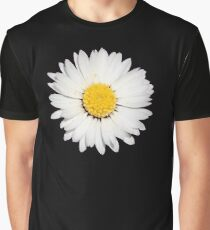 Nine Common Daisies Isolated on A Black Background Graphic T-Shirt