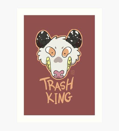 Trash King Art Print