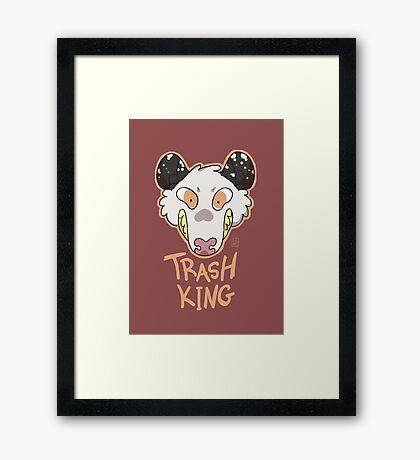 Trash King Framed Print