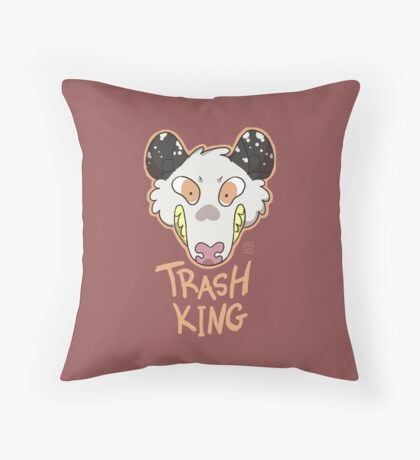 Trash King Throw Pillow