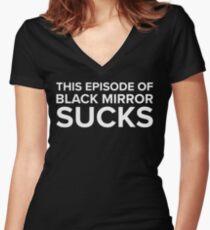 This Episode Of Black Mirror Sucks - Anti Trump Design Women's Fitted V-Neck T-Shirt