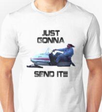 Just Gonna Send it Larry Enticer Meme Tee Shirt Slim Fit T-Shirt