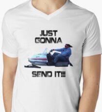 Just Gonna Send it Larry Enticer Meme Tee Shirt Men's V-Neck T-Shirt