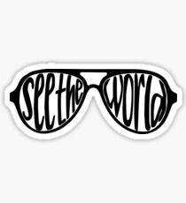 see the world sunglasses Sticker