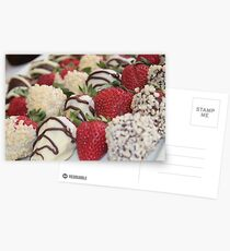 Yum Yum Strawberries Postcards