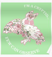 I'm A Cryptid Few Can Observe- Mothman Poster