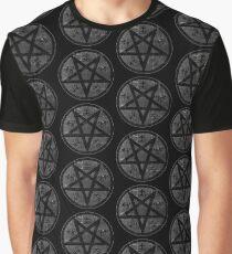eVIL pENTAGRAM , bLACK mETAL sATANIC t-SHIRT,oCCULt  FAShIOn Graphic T-Shirt