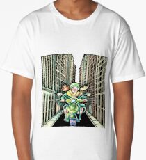 Woman on Vespa in New York Long T-Shirt