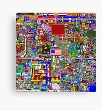 Reddit r/Place 12K Official r/TheFinalClean Cleaned Version – FINAL Revision (Without Void) Canvas Print