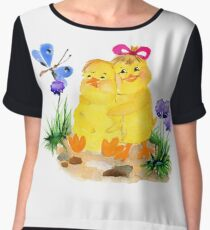 Two chickens Chiffon Top