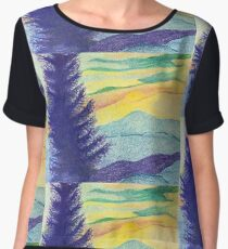 Blue Ridge Sunset Women's Chiffon Top