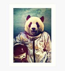 Astronaut panda Art Print