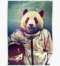 Panda astronaut Poster