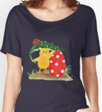 Chicken and easter eggs Women's Relaxed Fit T-Shirt