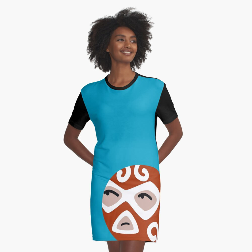 Luchador Graphic T-Shirt Dress