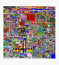 Reddit r/Place 10K Official r/TheFinalClean Cleaned Version – FINAL Revision (With Void) Photographic Print