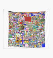 Reddit r/Place 12K Official r/TheFinalClean Cleaned Version – FINAL Revision (With Void) Wall Tapestry