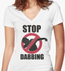 Stop Dabbing Lil Dicky Pillow Talking Women's Fitted V-Neck T-Shirt