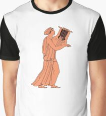 ancient woman playing lyre Graphic T-Shirt