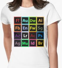 Periodic Table of Design Womens Fitted T-Shirt