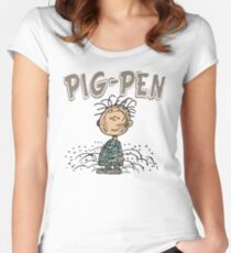 PIG-PEN - SNOOPY Women's Fitted Scoop T-Shirt
