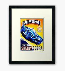 Lámina enmarcada SHELBY COBRA: Publicidad de coches de carreras de época