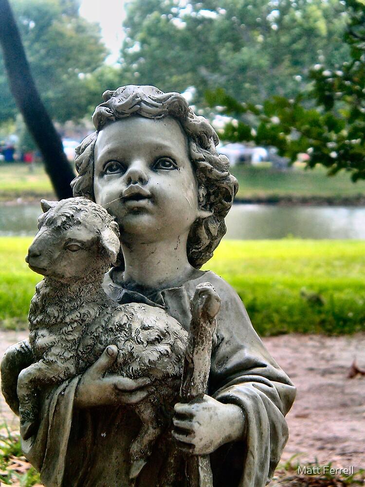Statue with sheep by Matt Ferrell