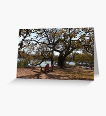 Peace By The Creek Greeting Card