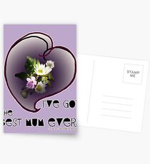 wildflower, Best Mum EVER! heart quirky Postcards