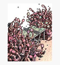 Crowded Ping Pong Game Photographic Print