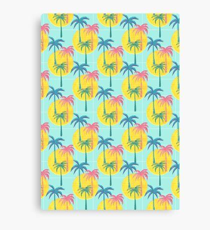 Retro Palms Canvas Print
