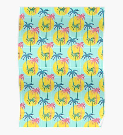 Retro Palms Poster