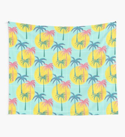 Retro Palms Wall Tapestry