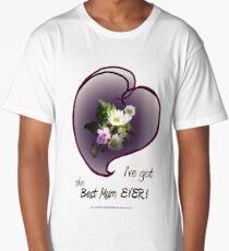 wildflower, Best Mum EVER! heart Long T-Shirt