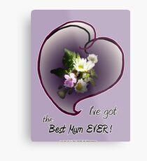 wildflower, Best Mum EVER! heart Metal Print