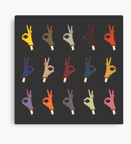 ALL OKAY HANDY PATTERN Canvas Print