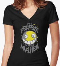 Perfect Day for Mayhem (Alternate) Women's Fitted V-Neck T-Shirt