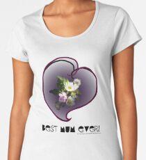 wildflower, Best Mum EVER! heart quirky Women's Premium T-Shirt