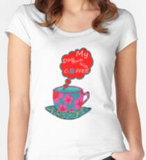 My Day Starts With Coffee Women's Fitted Scoop T-Shirt