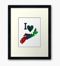 I Love Nova Scotia Framed Print