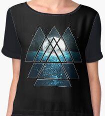 Sacred Geometry Triangles - Oceanic Moon  Chiffon Top
