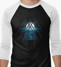Sacred Geometry Triangles - Oceanic Moon  T-Shirt