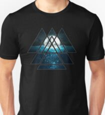 Sacred Geometry Triangles - Oceanic Moon  T-Shirt