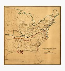 Historical Sketch of the Rebellion Civil War Map (May 1862) Photographic Print