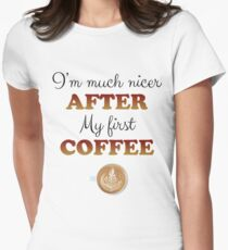 Coffee lovers Women's Fitted T-Shirt