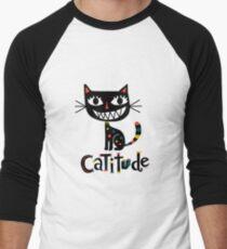 Catitude Men's Baseball ¾ T-Shirt
