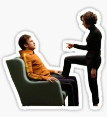 David and Lenny Therapist  Sticker