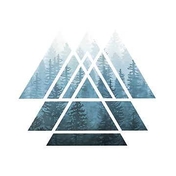 Heilige Geometrie-Dreiecke - Misty Forest von maryedenoa