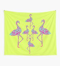 Fancy Flamingos Wall Tapestry