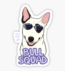 BULL SQUAD (white piebald) Sticker